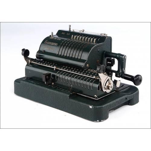 Rara Calculadora Alemana Hamman Manus Modelo E, Fabricada en Alemania en los Años 50 del Siglo XX