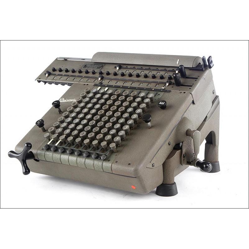 Magnífica Calculadora Rheinmetall de los Años 40-50. Bien Conservada y Funcionando