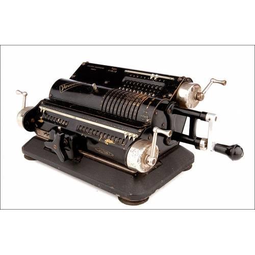 Calculadora Vintage Vaucanson Fabricada en 1936 en París, Francia. Funcionando Muy Bien