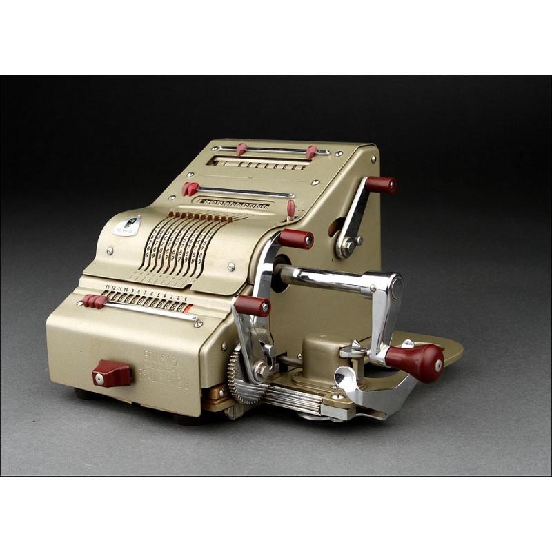 Preciosa Calculadora Brunsviga 13 RK Fabricada en los Años 50. Muy Bien Conservada y Funcionando