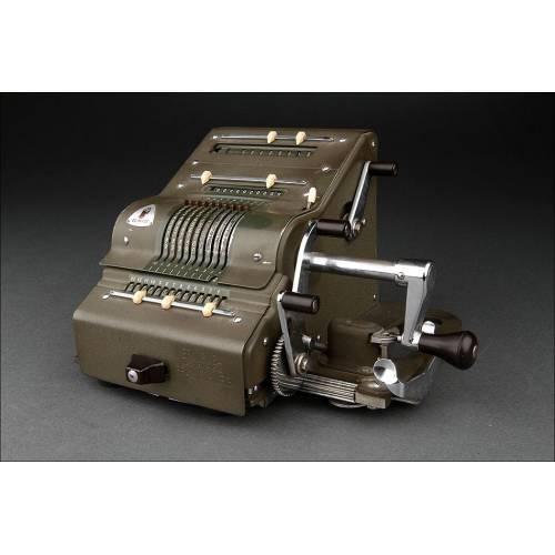 Calculadora Brunsviga 13 RK Fabricada en Alemania en los Años 50. Funcionando a la Perfección