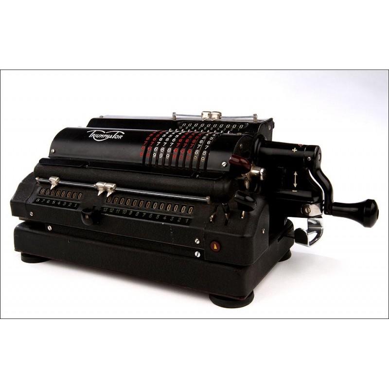Calculadora Triumphator CN1 en Buen Estado de Conservación y Funcionamiento. Alemania del Este, Años 50