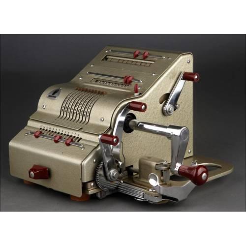 Preciosa Calculadora Brunsviga 13 RK Fabricada en Alemania en los Años 50. Perfecto Estado. Funcionando
