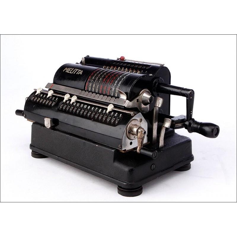 Calculadora de Molinete Melitta, Funcionando Muy Bien. Alemania, Años 30