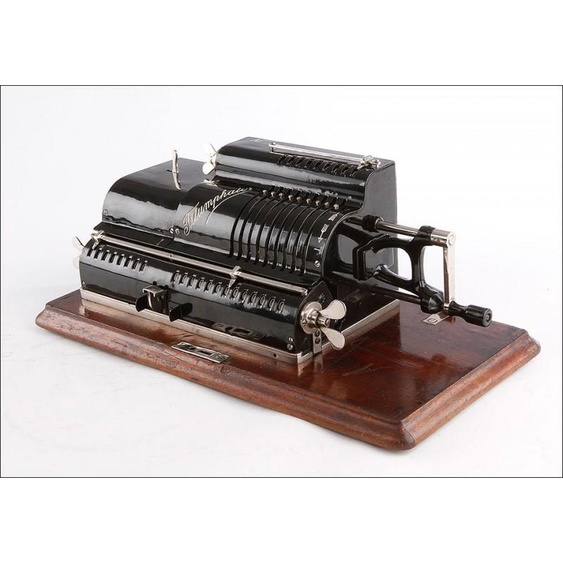Antigua Calculadora Triumphator A en Perfecto Funcionamiento. Alemania, 1905