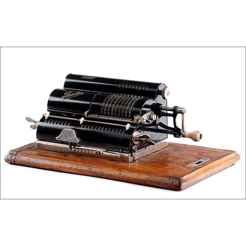 Antigua Calculadora Thales A2, Bien Conservada y Funcionando. Alemania, Años 20