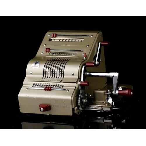 Calculadora Brunsviga 13RK Funcionando Perfectamente. Alemania, Años 50