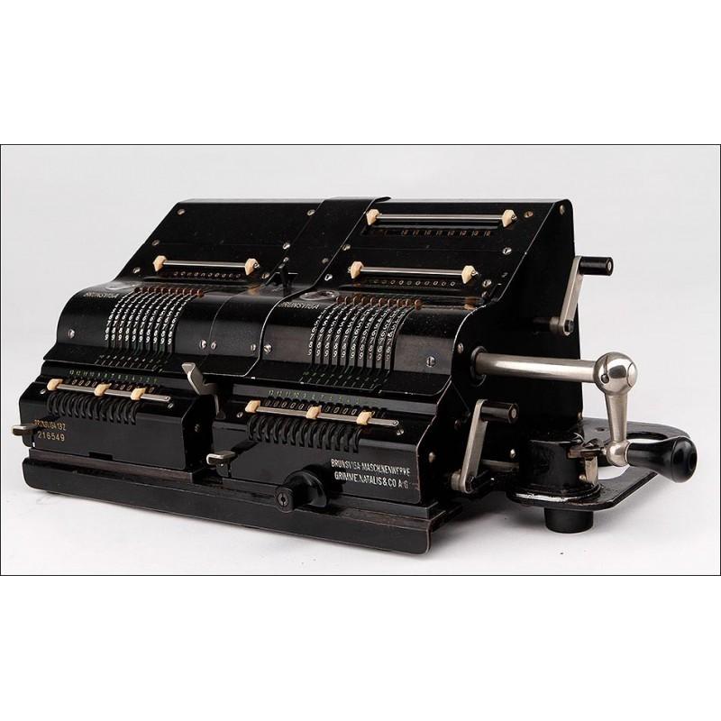 Calculadora Brunsviga Doppel D13Z-1, Funcionando. Alemania, Años 30 del S. XX