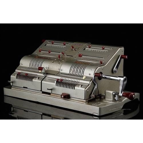 Fantástica Calculadora Brunsviga Doppel D13 R-1. Alemania, Años 50. Muy Bien Conservada
