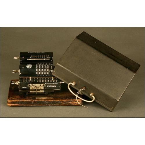 Calculadora Alemana Brunsviga MH, 1.923. Perfecto Funcionamiento. Con Tapa y Llave Originales