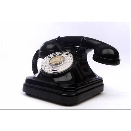 Raro Teléfono Español Fabricado por Telefónica en los Años 40-50. Muy Atractivo y Funcionando