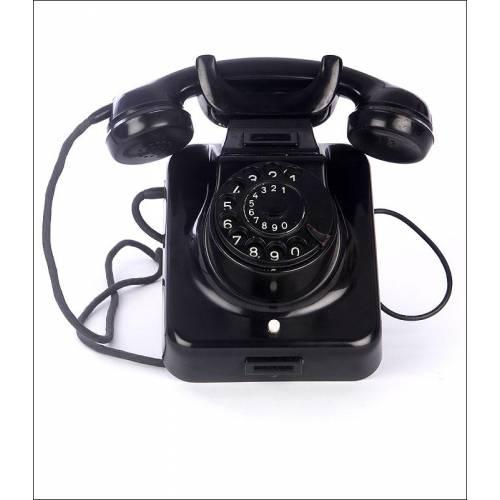 Curioso Teléfono Convertible Alemán de los Años 40 del Siglo XX. En Buen Estado y Funcionando