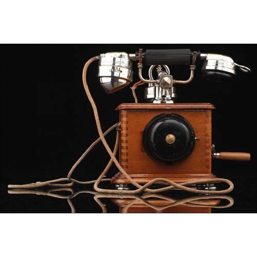 Teléfono de Centralita en Buen Estado y Funcionando. Francia, Siglo XX. Pieza Original