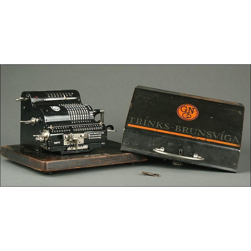 """Calculadora Brunsviga MH """"System Trinks"""", 1923. En Perfecto Estado de Funcionamiento"""