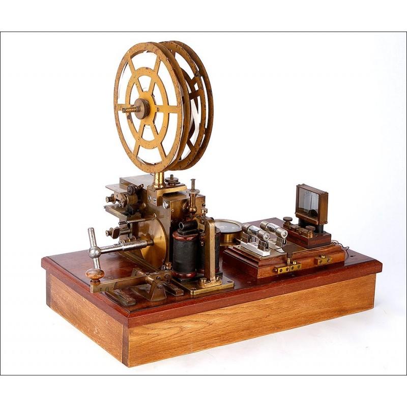 Estación Telegráfica Antigua Bien Conservada y Funcionando. Alemania, Circa 1900