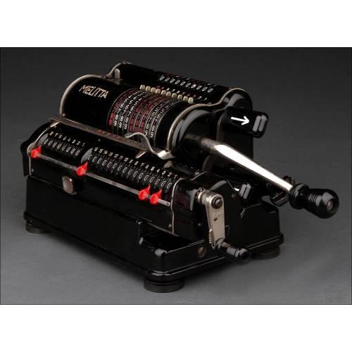 Calculadora Melitta Fabricada en Alemania en los Años 40. En Perfecto Estado de Funcionamiento