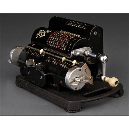 Elegante Calculadora Thales Fabricada en Alemania en los Años 30. En Perfecto Funcionamiento
