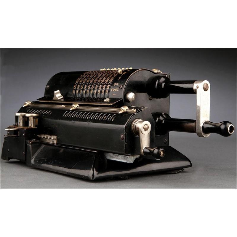 Calculadora Odhner Nº7 Fabricada en Suiza en 1932. Original y en Perfecto Estado de Funcionamiento