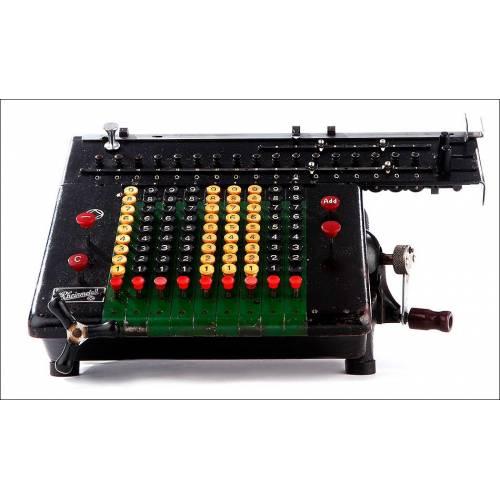 Calculadora Vintage Rheinmetall IId Fabricada en Alemania en 1925. Funcionando Muy Bien