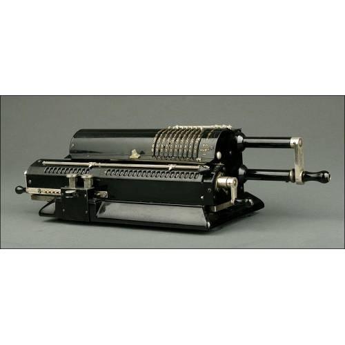 Calculadora Sueca Original Odhner, modelo 24. Fabricada en 1925. Bien Conservada y Funcionando Perfectamente