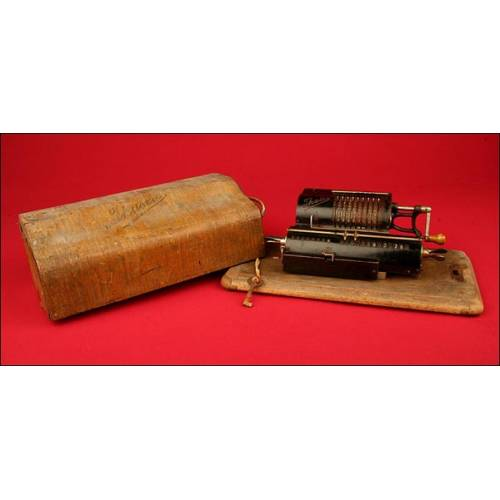 Carismática Calculadora Marca Thales Patent Modelo A, 1911. Funcionando.