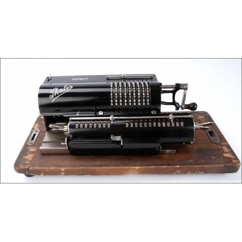 Antigua Calculadora de Molinete Thales C1 Funcionando Bien. Alemania, Circa 1919