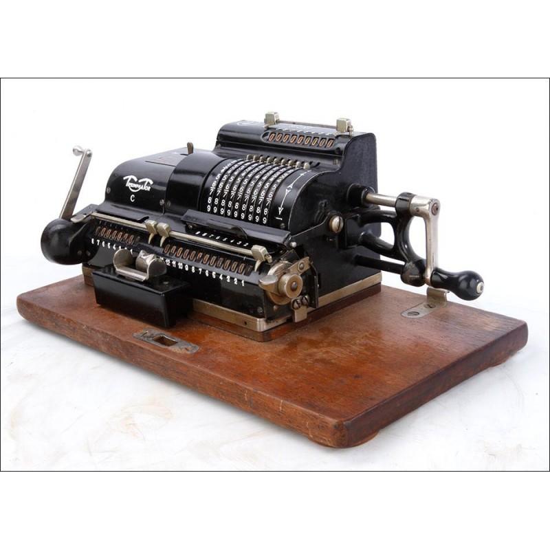 Antigua Calculadora Mecánica Triumphator C Funcionando Muy Bien. Alemania, Circa 1930
