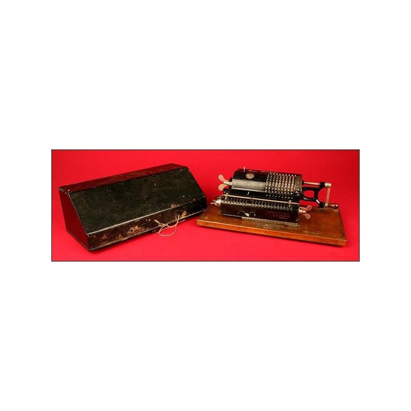 Calculadora Brunsviga B System Odhner, 1907. En Perfecto Estado de Funcionamiento.