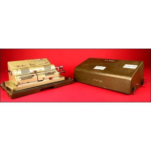 Espectacular Máquina de Calcular Brunsviga Doppler (doble) Modelo 14, 1958. Perfecta.
