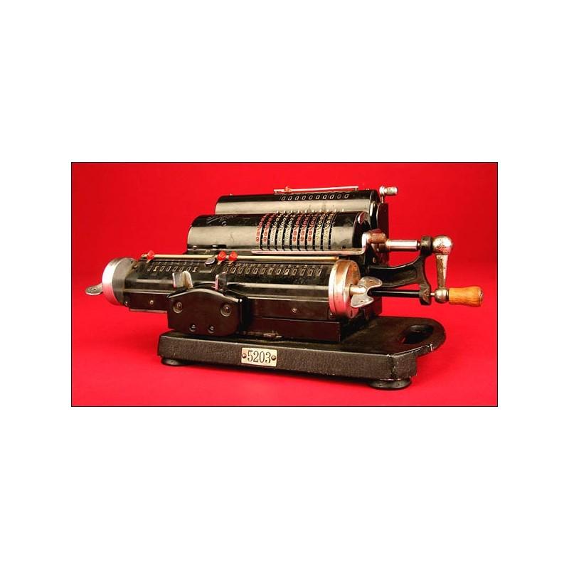 Llamativa Calculadora Marca Thales Patent, 1913. Excelente Funcionamiento.