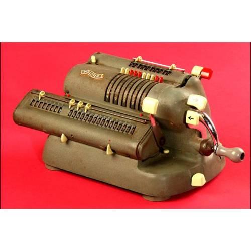 Fantástica Calculadora Marca Walther Modelo WSR 160, 1960.