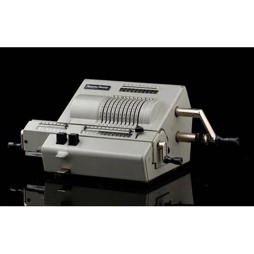 Atractiva Calculadora Original Odhner, Modelo 239. Suiza, Año 1960.