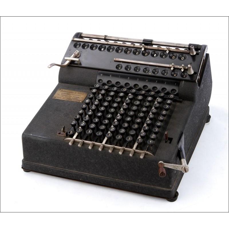 Magnífica Calculadora Antigua Lindström Record. Funciona Bien. Alemania, Circa 1915