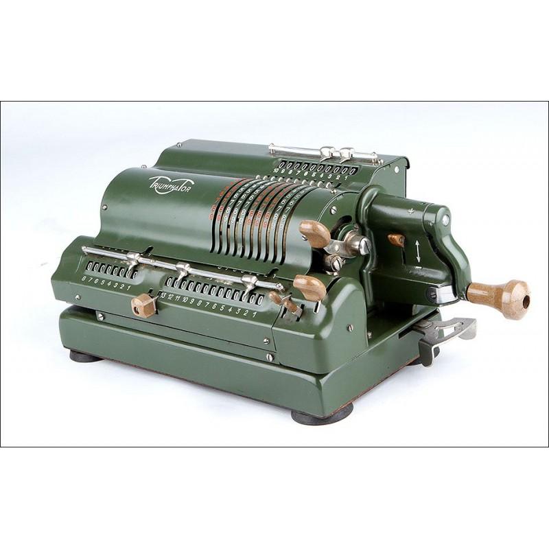 Preciosa Calculadora Triumphator Funcionando a la Perfección. Alemania, Años 50