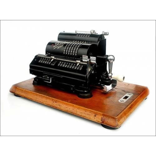 Antigua Calculadora de Molinete Thales en Estado de Funcionamiento. Alemania, Años 30