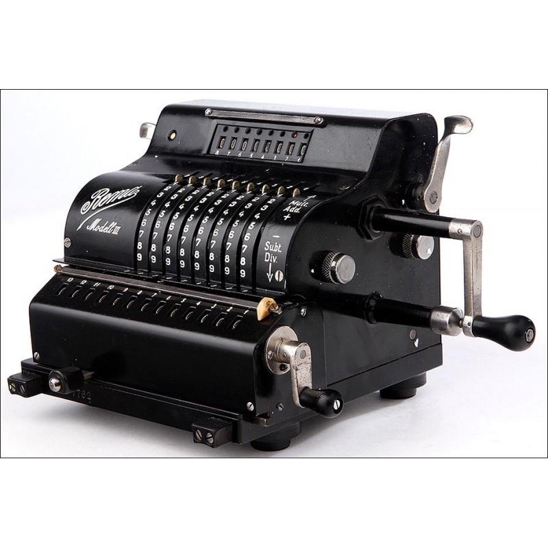 Calculadora Rema Model III, Bien Conservada y Funcionando. Alemania, Años 30