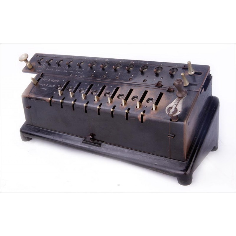 Fascinante Calculadora Antigua TIM Unitas III en Buenas Condiciones. Alemania, Circa 1910