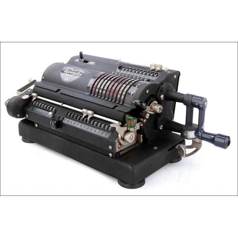 Antigua Calculadora Triumphator CRN Funcionando Muy Bien. Alemania, Años 40