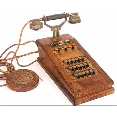 Antigua centralita telefónica.1915.