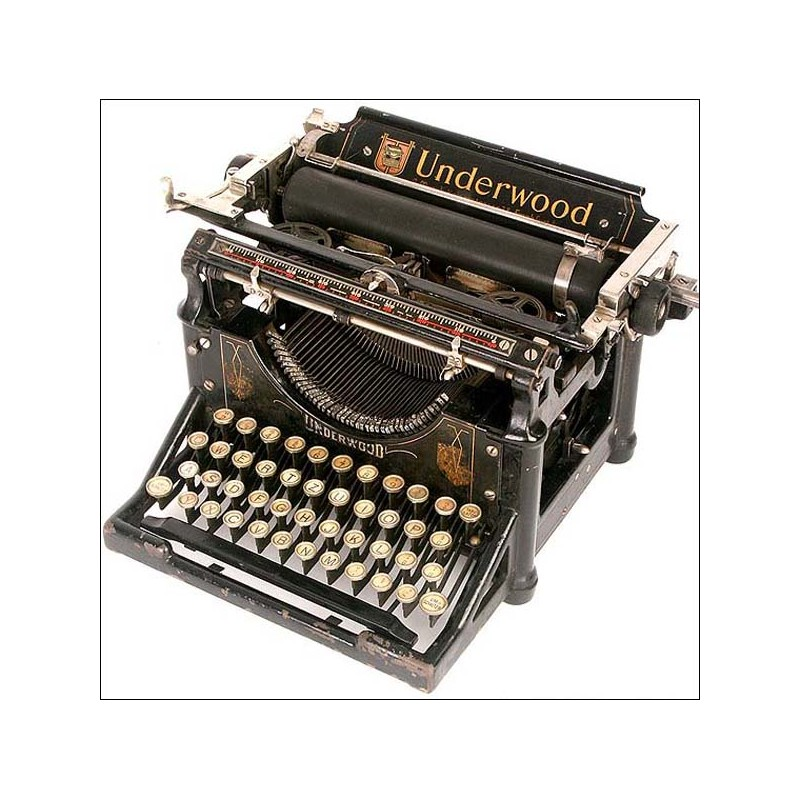 Máquina de escribir Underwood, funcionando perfectamente. 1905