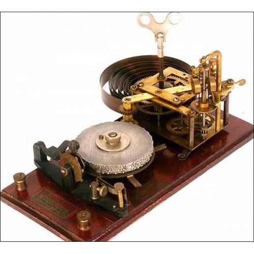 Omnigrafo. Antiguo y raro aparato para entrenamiento en morse. 1910
