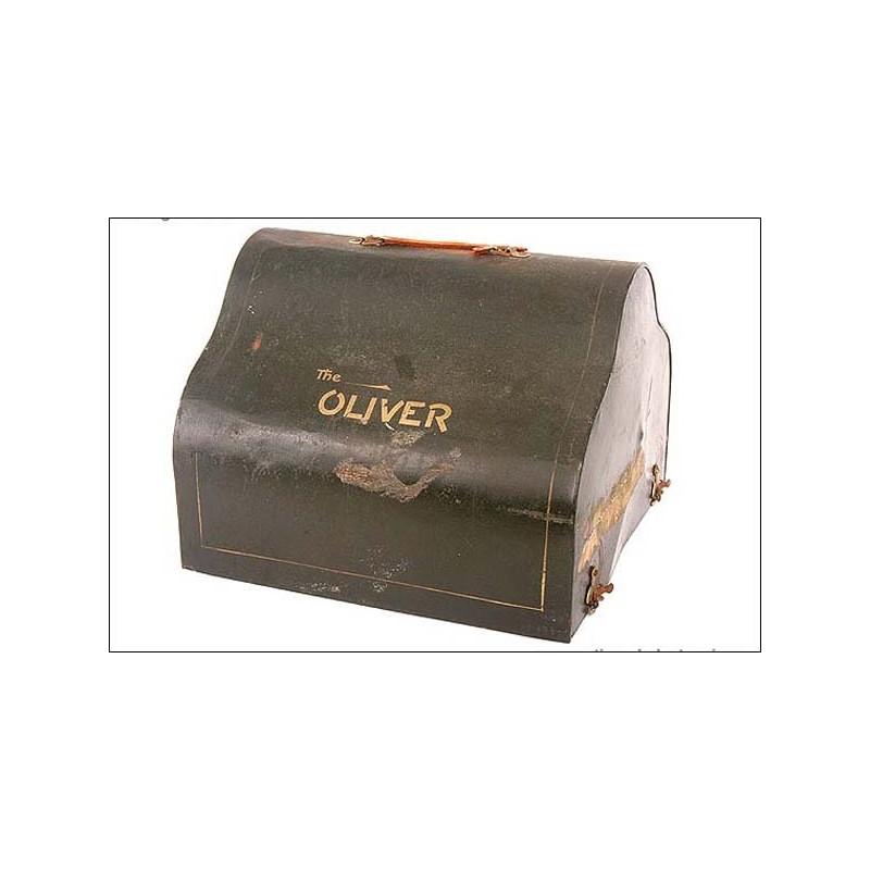 Extraordinaria máquina de escribir Oliver 5 + extras . 1910