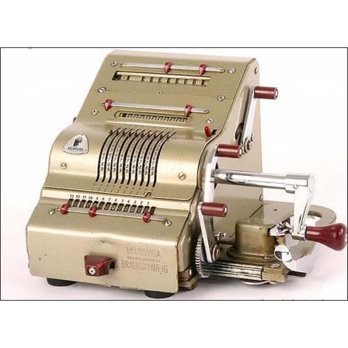 Calculadora mecánica Brunswiga 13 RK