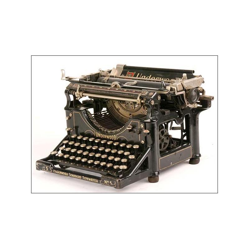 Máquina de escribir Underwood, nº5. 1915