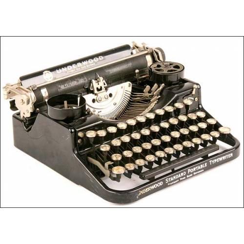 Máquina de escribir Underwood Portátil. 1924