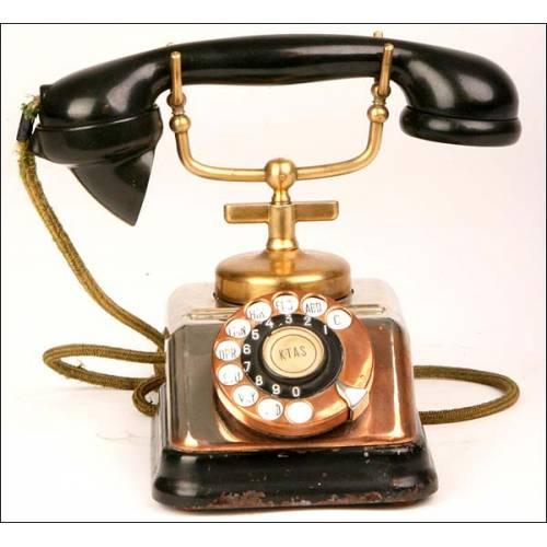 Teléfono de cobre. Años 50. Perfecto funcionamiento