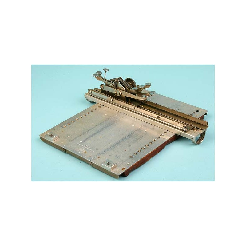 Máquina de escribir en braille , W.J. Glauser. 1920