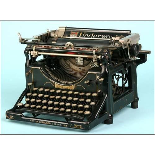 Máquina de escribir Underwood Nº 5 ,C.1927