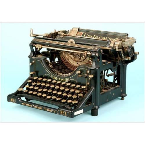 Máquina de escribir Underwood, Nº5.C.1915