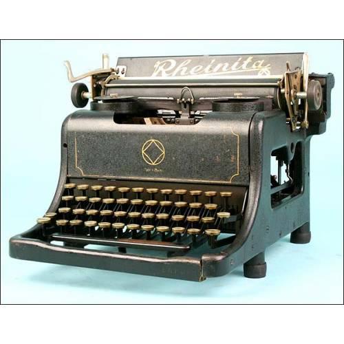 Máquina de escribir Rheinita, circa 1929.